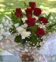panier roses rouges